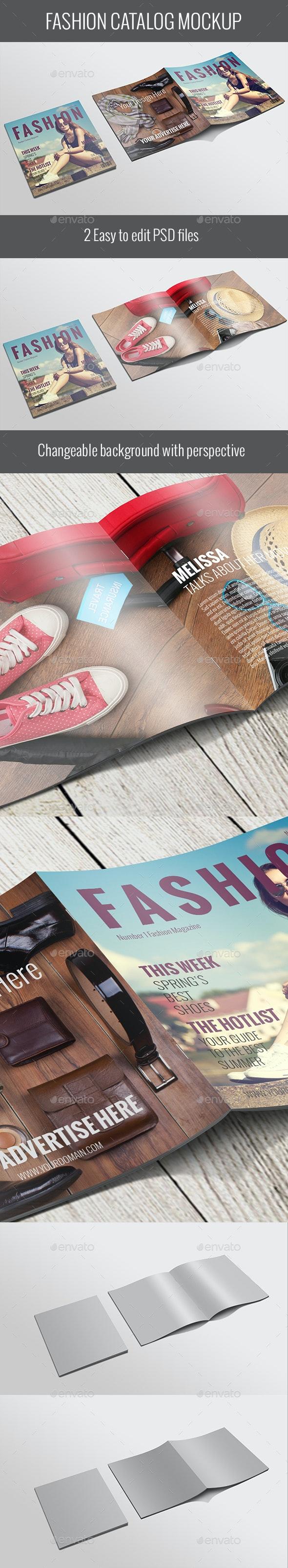 Fashion Magazine Mockup-V02-Square - Brochures Print