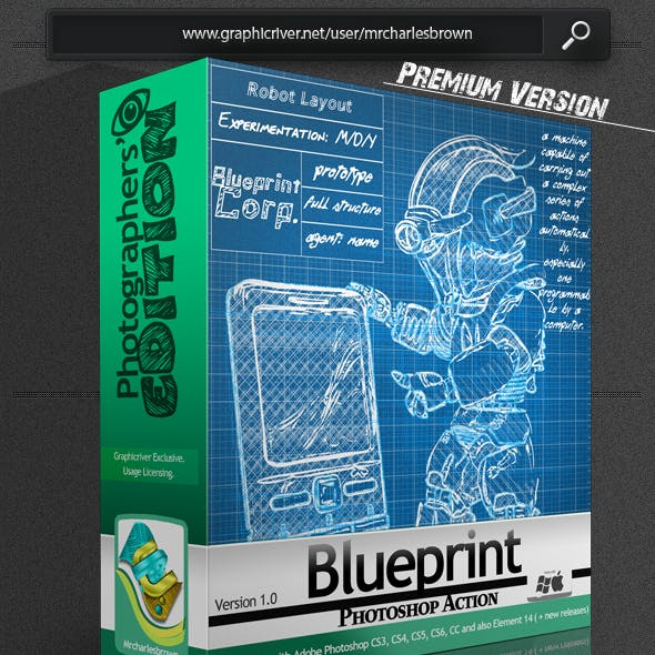 Blueprint Photoshop Action – Photographers Edition