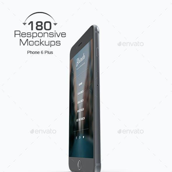 180 Responsive 3D Mockup - Phone 6 Plus