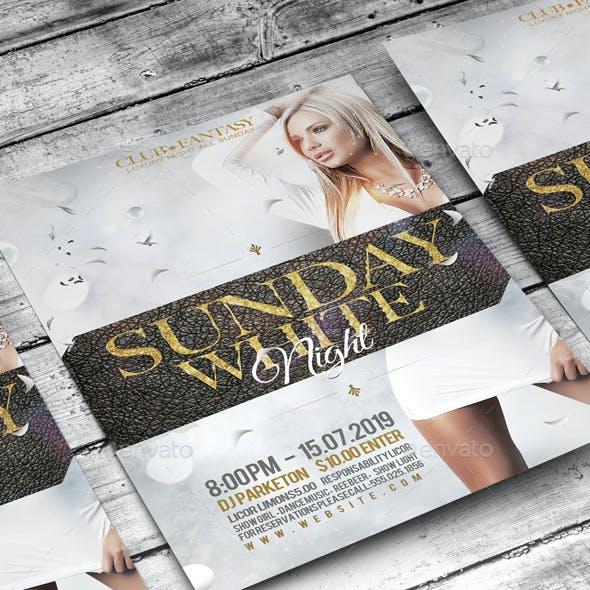 Flyer Sunday White Night