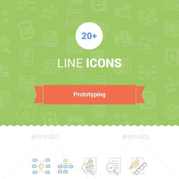 20+ UX / Prototyping Line Icons