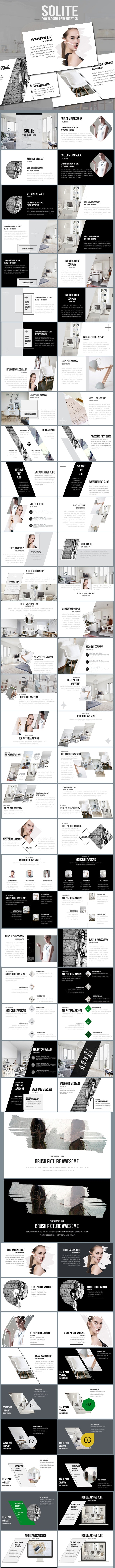 Solite Clear & Model Powerpoint Presentation - Business PowerPoint Templates