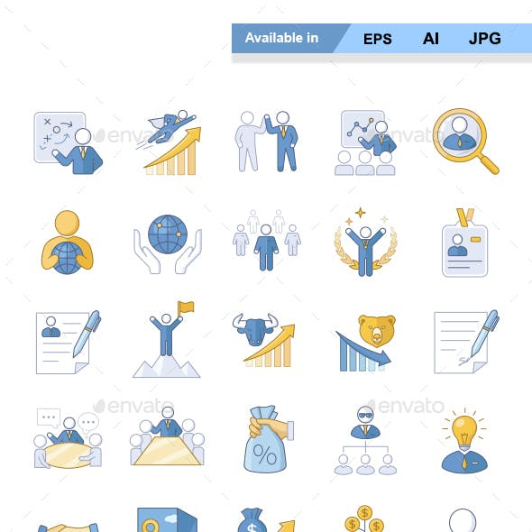 Business Color Vector Icons