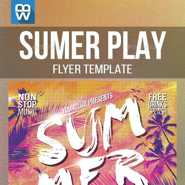 Summer Play Flyer Template