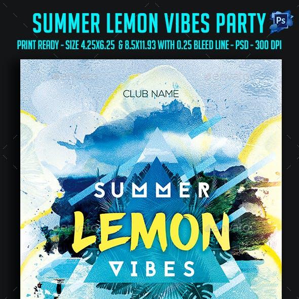 Summer Lemon Vibes Party Flyer