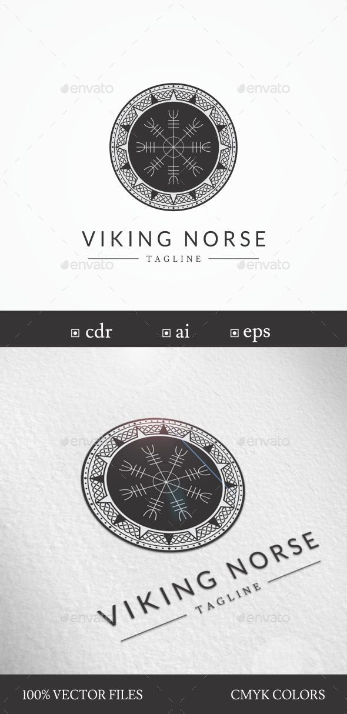 "Viking/Norse ""Helm of Awe"" Symbol Logo Template - Symbols Logo Templates"