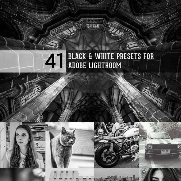 Black & White Collection of presets for Lightroom