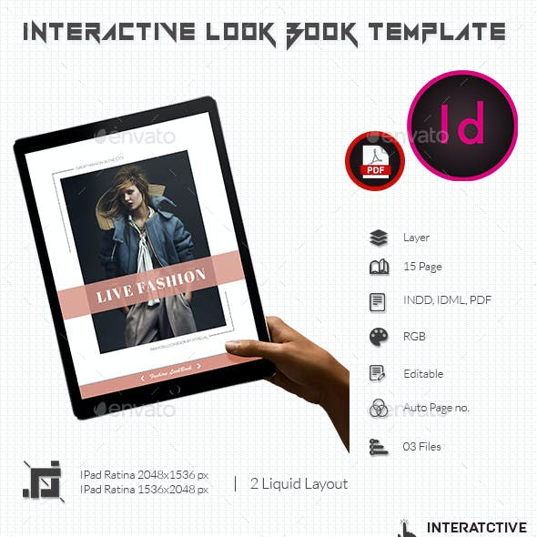 Interactive Look Book Template
