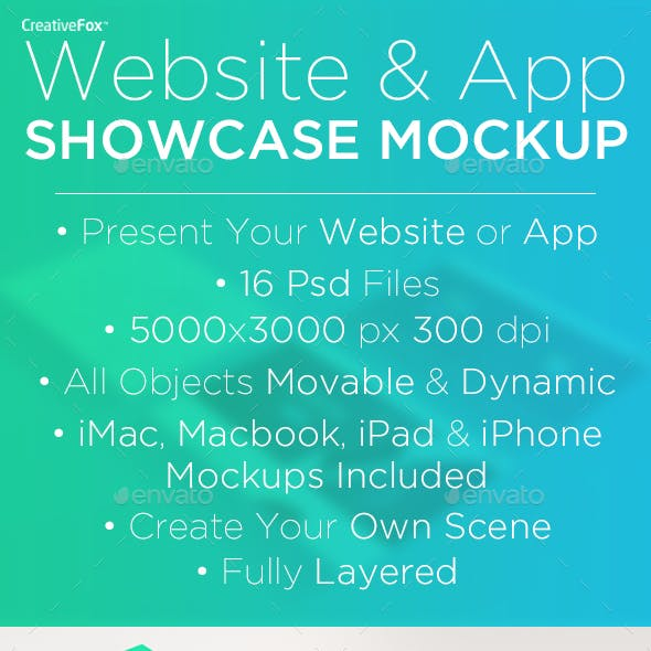 Website & App Showcase Mockup Creator