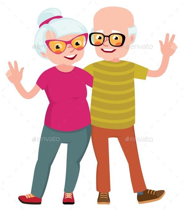 Happy Seniors - People Characters