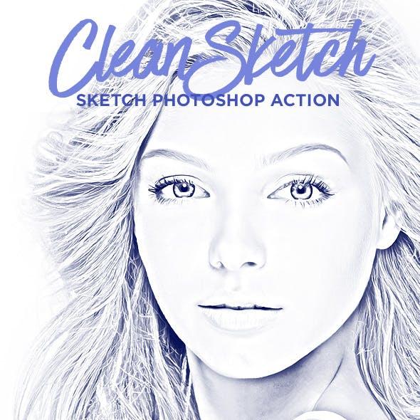 Clean Sketch - Sketch Photoshop Action
