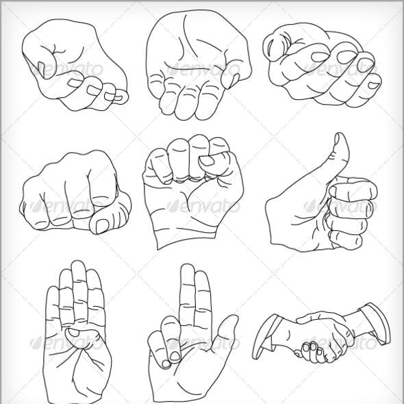 9 Vector Hands Illustrations