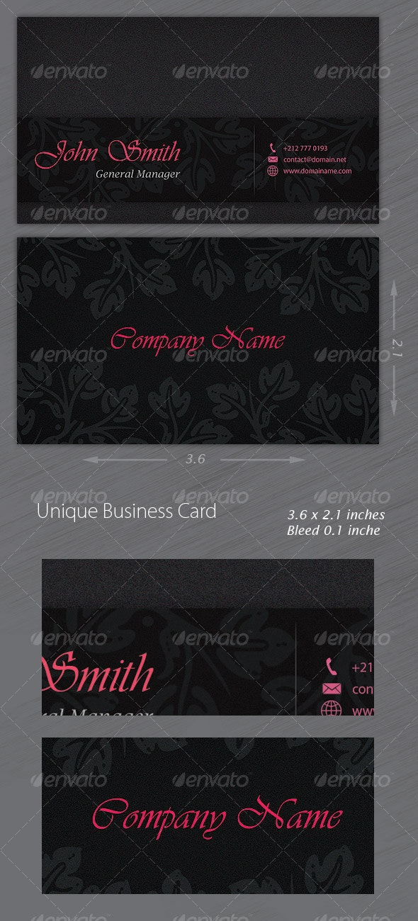 Unique Business Card - Retro/Vintage Business Cards