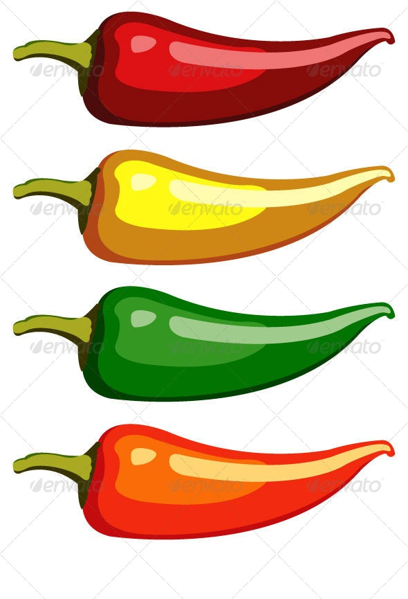 Simple Jalapeno - Food Objects