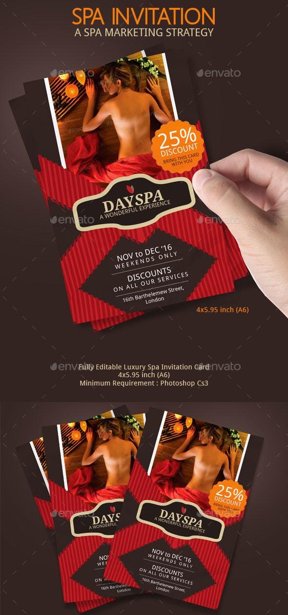 Spa Voucher Invitation - Invitations Cards & Invites