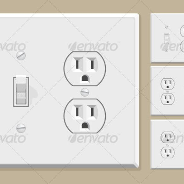 Light Switch & Electrical Outlet Combo