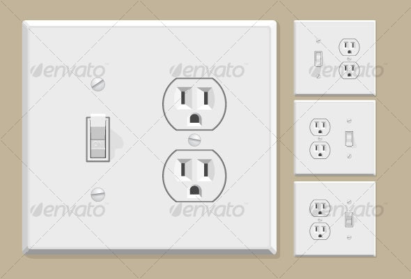Light Switch & Electrical Outlet Combo - Man-made Objects Objects