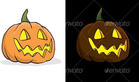 Halloween Jack-o-lanterns - Halloween Seasons/Holidays