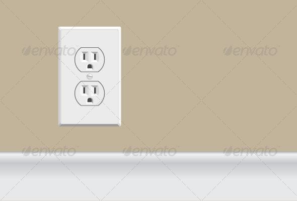 White Electrical Outlet - Man-made Objects Objects