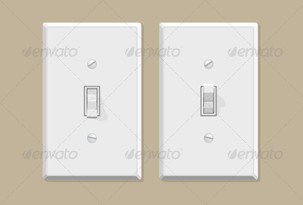 Light Switches - Man-made Objects Objects