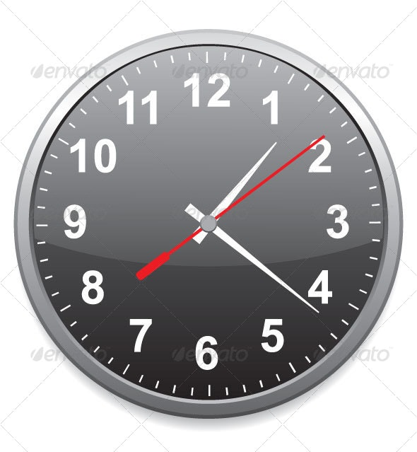 Generic School or Office Clock - Man-made Objects Objects