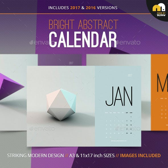 Bright Abstract Calendar