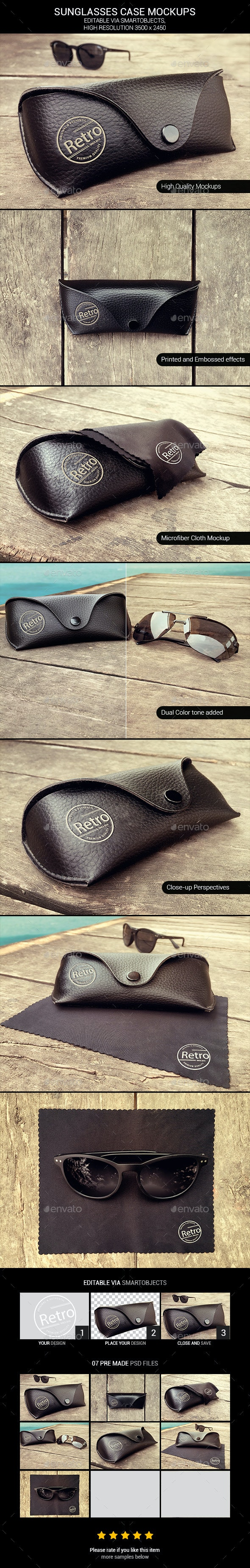Sunglasses Case Mockups - Beauty Packaging