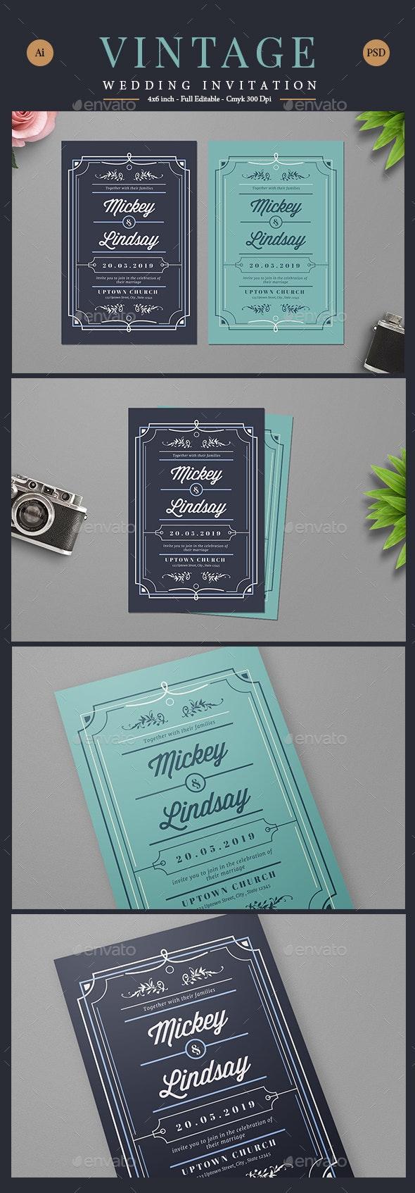 Vintage Wedding Card/Invitation - Weddings Cards & Invites