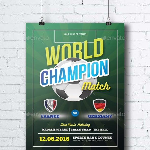 Soccer World Champion Match - Photoshop