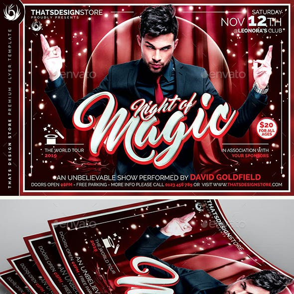 Magic Performer Flyer Template V3