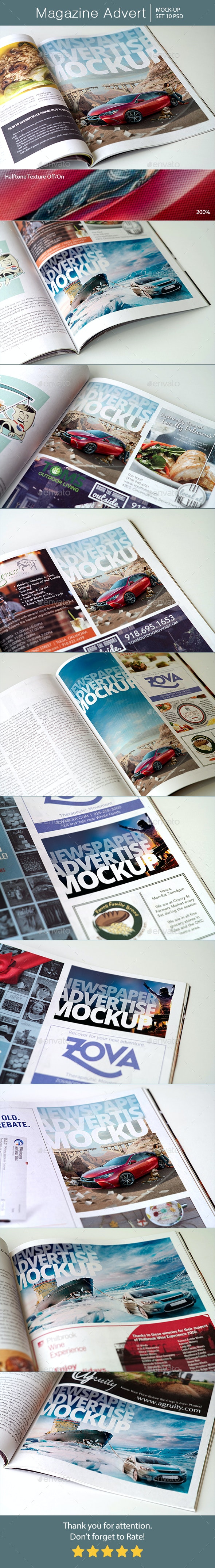 Magazine Advert Mockups - Miscellaneous Print