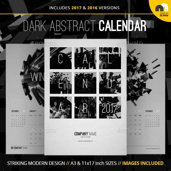 Dark Abstract Calendar
