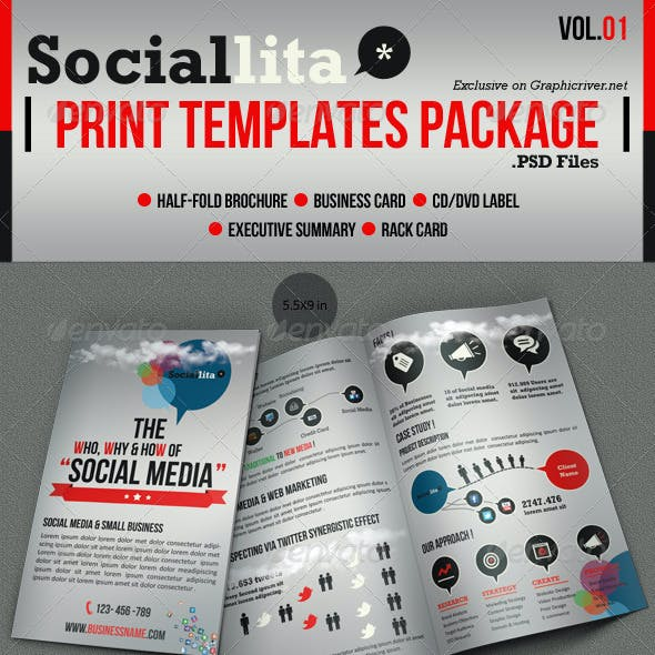 Sociallita Print Templates Package Vol.01