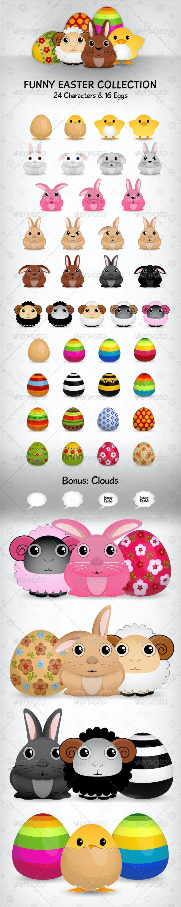 Funny Easter Collection - Seasons/Holidays Conceptual