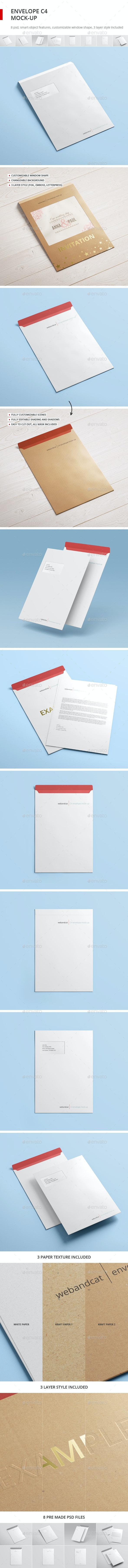 Envelope C4 Mock-up - Stationery Print