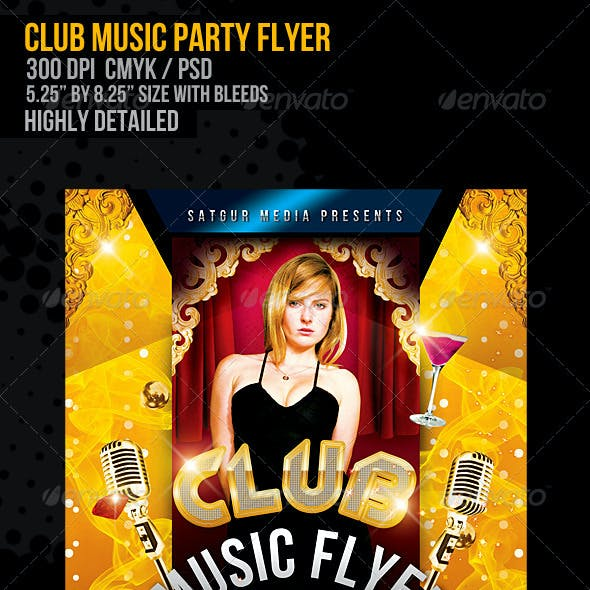 Club Music Dance Party Flyer