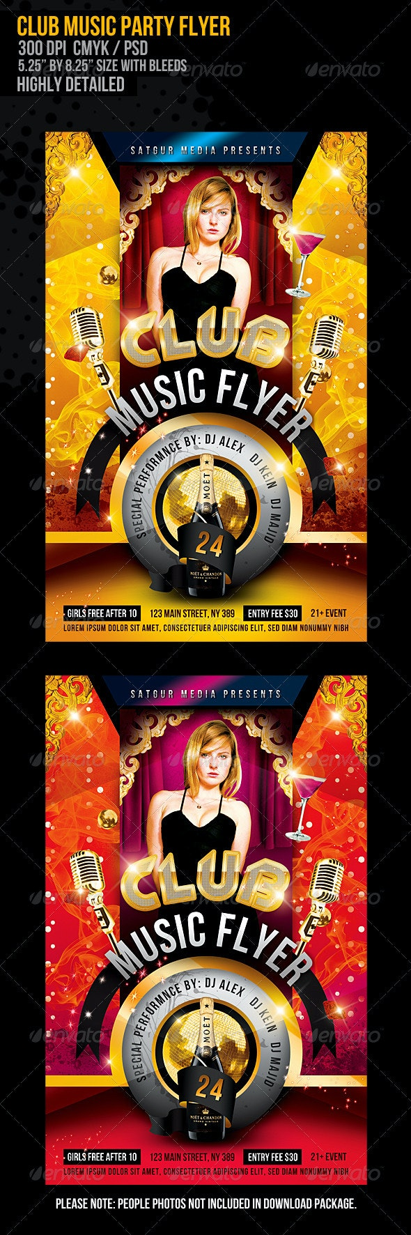 Club Music Dance Party Flyer - Clubs & Parties Events