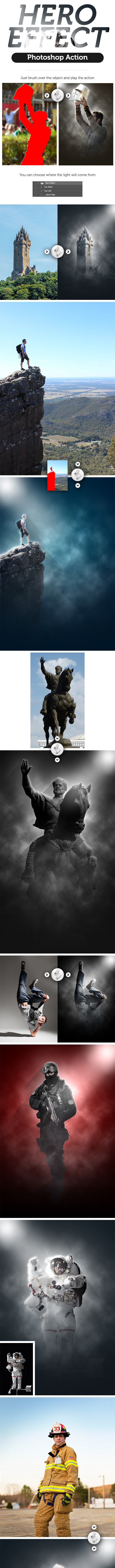 Hero Effect Photoshop Action - Photo Effects Actions