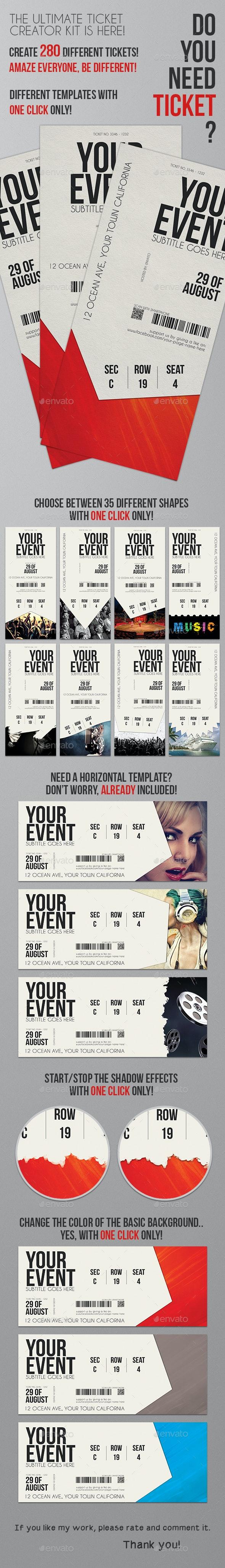 Ticket Creator Kit - Invitations Cards & Invites