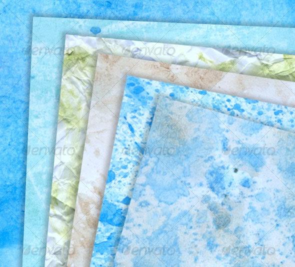 Various paint on paper textures - Paper Textures
