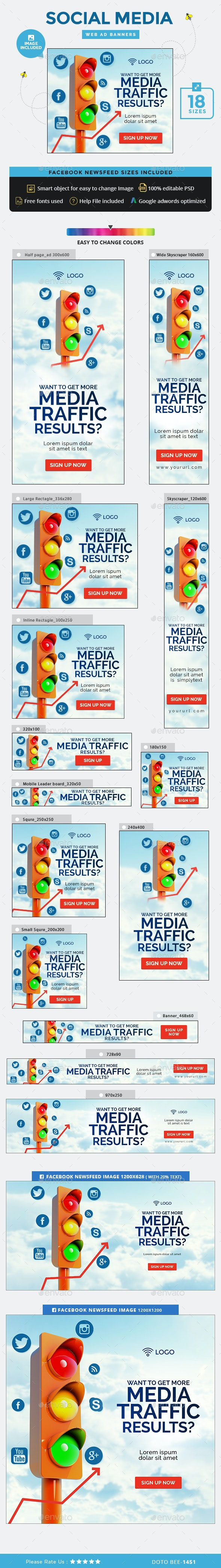 Social Media Marketing Banners