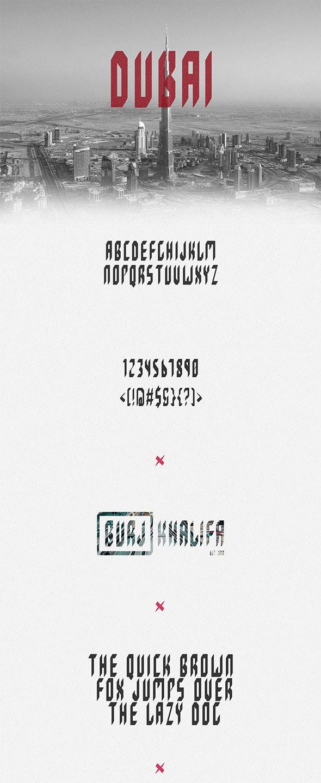 DUBAI Typeface - Condensed Sans-Serif