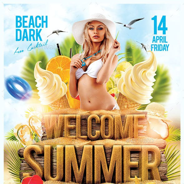 Welcome Summer Party Flyer Template