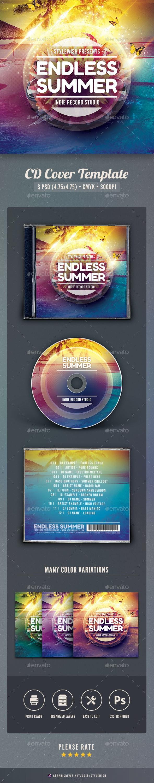Endless Summer CD Cover Artwork - CD & DVD Artwork Print Templates