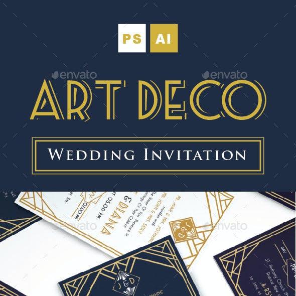Art Deco Wedding Invitation Vol. 2