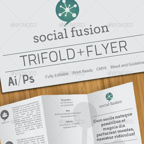 Social Fusion Trifold And Flyer