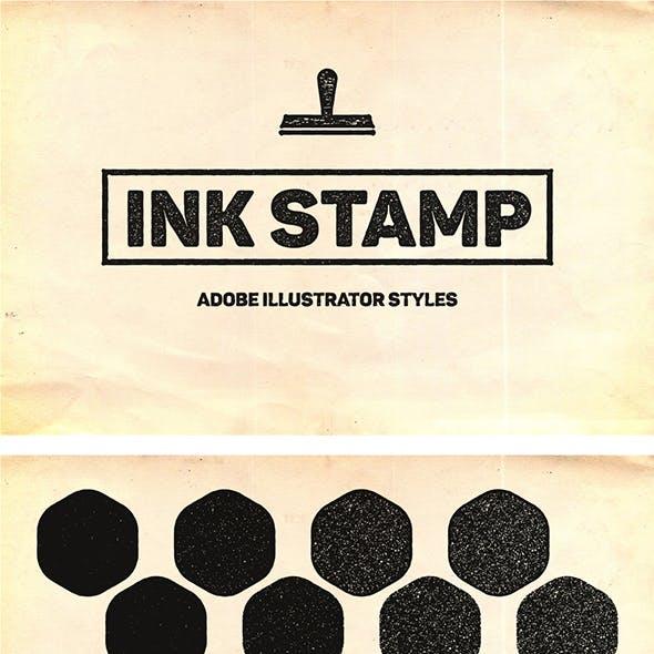 Ink Stamp Styles For Illustrator