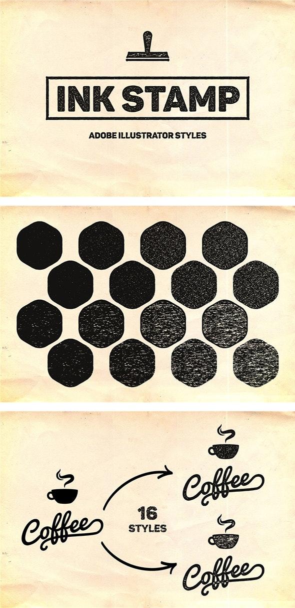 Ink Stamp Styles For Illustrator - Styles Illustrator