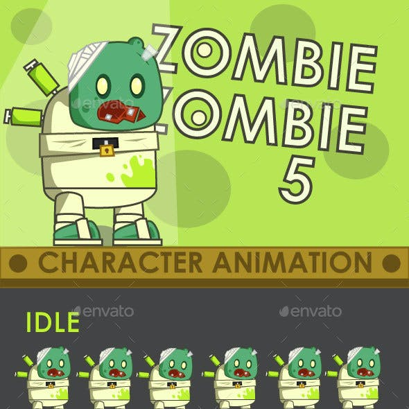 Zombie Enemy Sprite Sheet #5