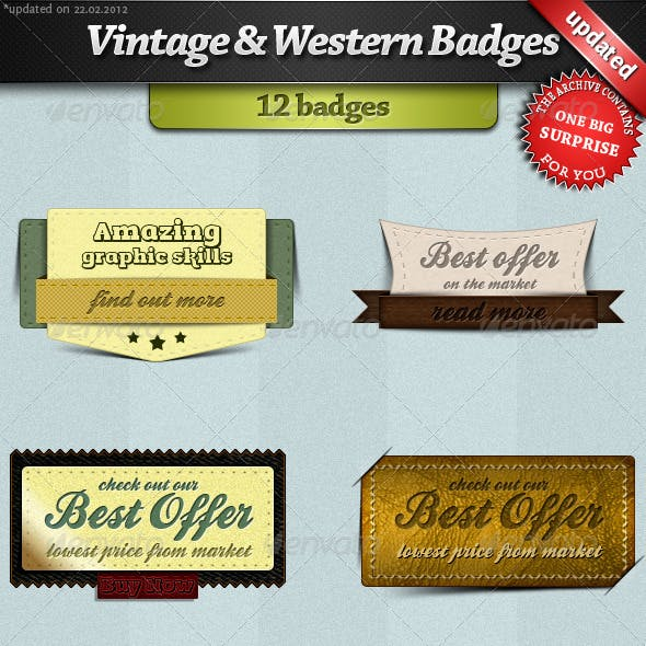 Vintage and Western Badges
